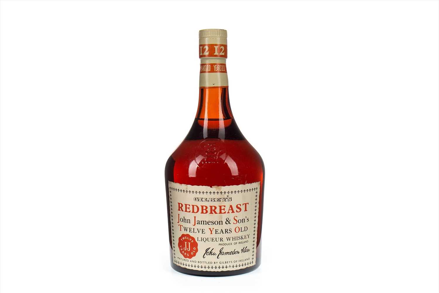Lot 1-GILBEY'S REDBREAST LIQUEUR WHISKEY 12 YEARS OLD