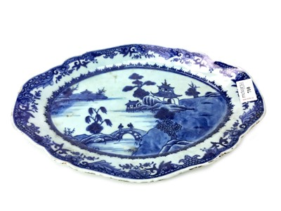 Lot 710-A LATE 19TH CENTURY CHINESE BLUE AND WHITE OVAL DISH