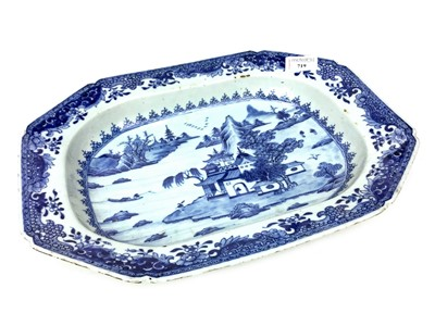 Lot 719-A LATE 19TH CENTURY CHINESE BLUE AND WHITE OCTAGONAL DISH