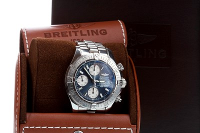 Lot 751 - A GENTLEMAN'S BREITLING CHRONOMETRE WRIST WATCH