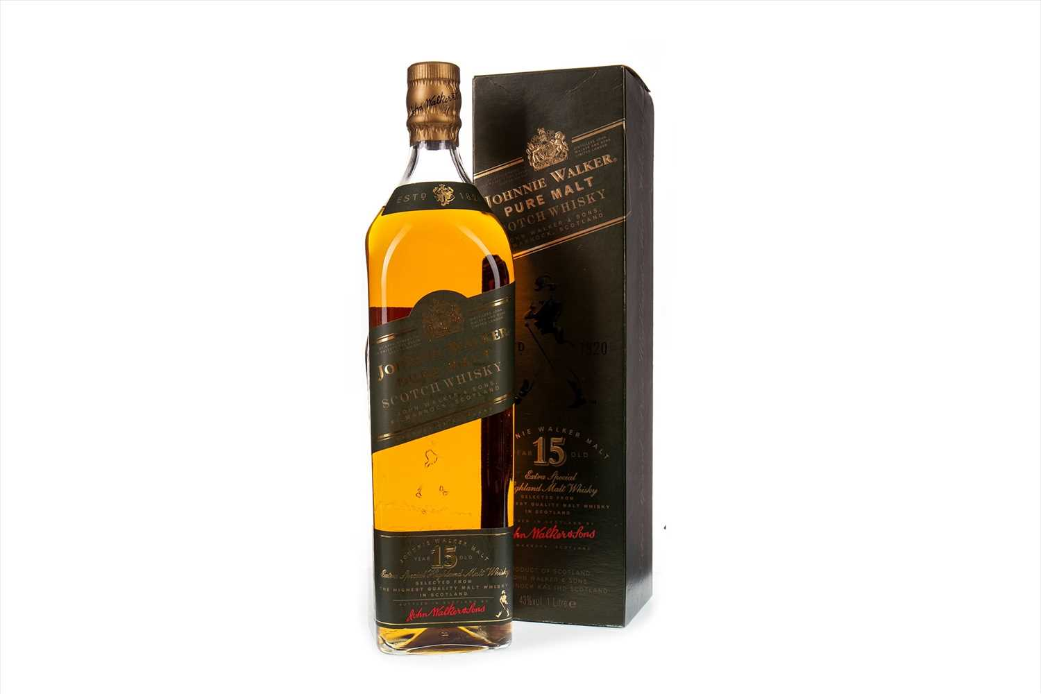 Lot 402-JOHNNIE WALKER GREEN LABEL AGED 15 YEARS - ONE LITRE