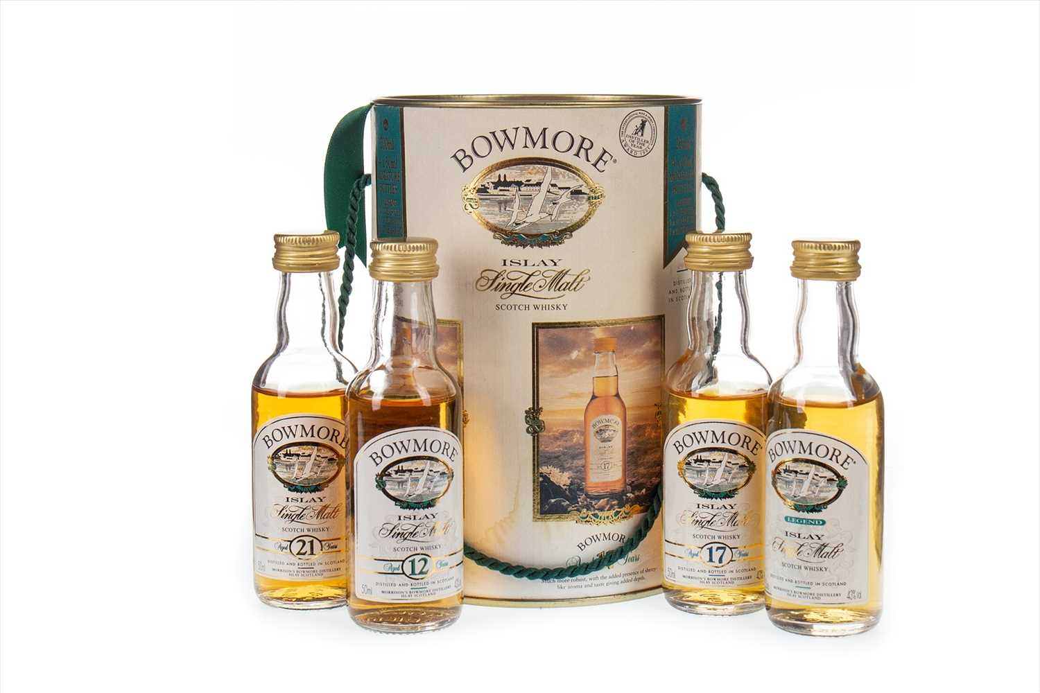 Lot 308-BOWMORE MINIATURE SET (4x5CL)