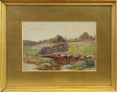 Lot 119-THE RED POOL, A WATERCOLOUR BY HENRY SYKES