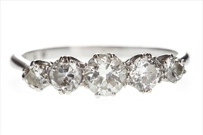 Lot 811-A DIAMOND FIVE STONE RING