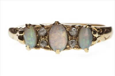 Lot 819-AN OPAL AND DIAMOND RING