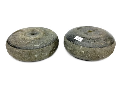 Lot 1855-A PAIR OF EARLY 20TH CENTURY CURLING STONES