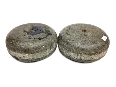 Lot 1857-A PAIR OF EARLY 20TH CENTURY CURLING STONES