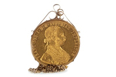 Lot 10-A RESTRIKE GOLD DUCAT, 1915
