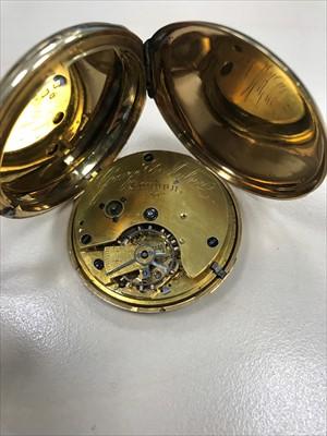 Lot 755-A GOLD FULL HUNTER POCKET WATCH