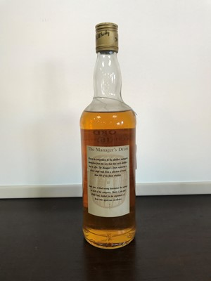 Lot 19-ORD MANAGERS DRAM AGED 16 YEARS - LOW FILL