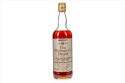 Lot 3-ABERFELDY MANAGERS DRAM AGED 19 YEARS - LOW FILL