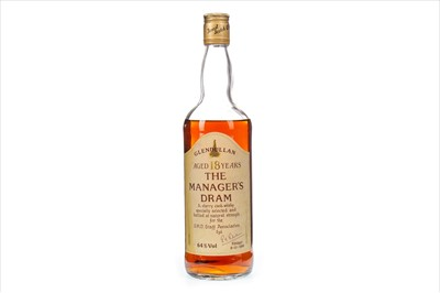Lot 23-GLENDULLAN MANAGERS DRAM AGED 18 YEARS - LOW FILL