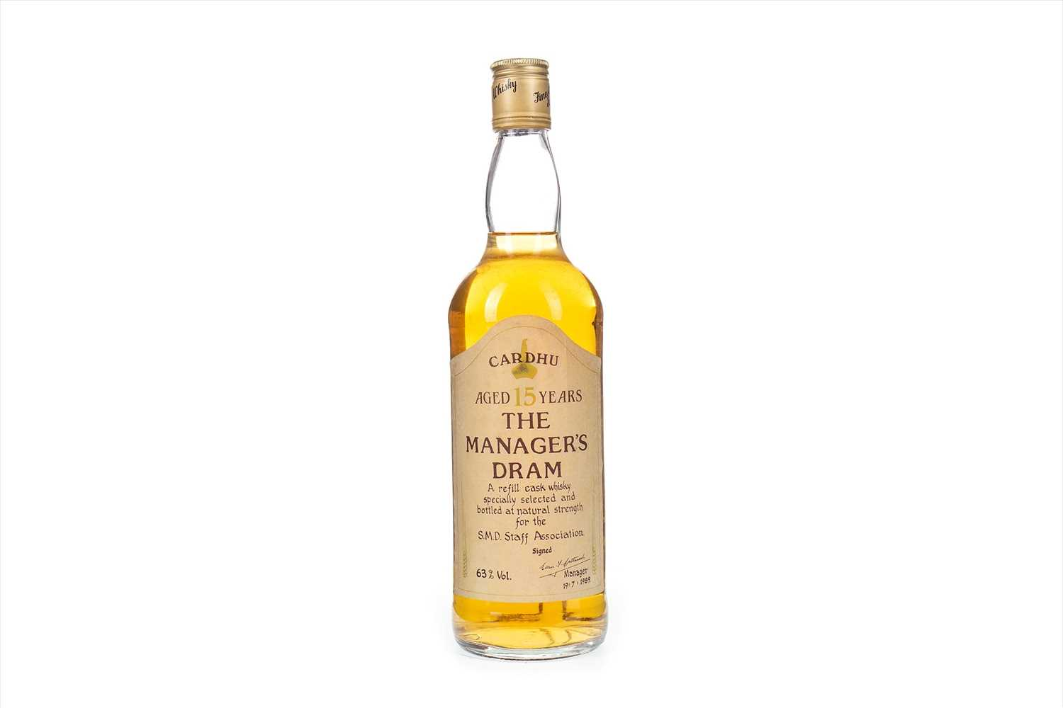 Lot 7-CARDHU MANAGERS DRAM AGED 15 YEARS