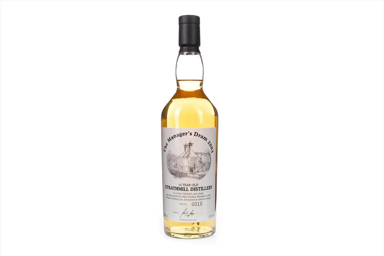Lot 20-STRATHMILL MANAGERS DRAM AGED 15 YEARS
