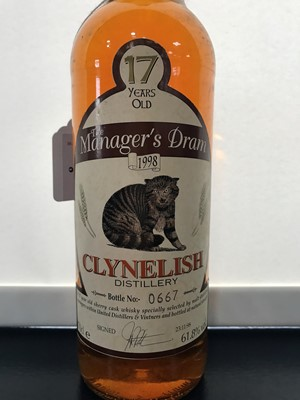 Lot 8-CLYNELISH MANAGERS DRAM AGED 17 YEARS