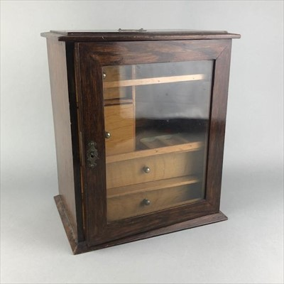 Lot 16-AN OAK SMOKER'S CABINET