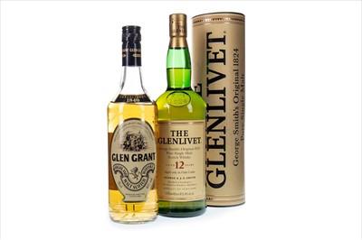 Lot 310-ONE LITRE OF GLENLIVET AGED 12 YEARS AND GLEN GRANT