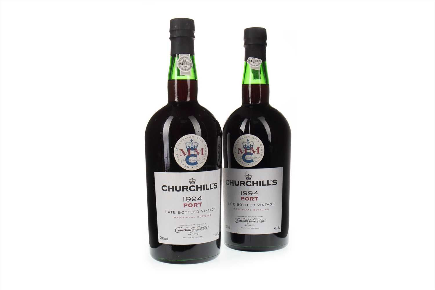 Lot 1009-TWO MAGNUMS OF CHURCHILL'S 1994 LBV