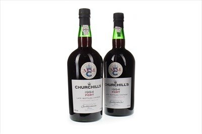Lot 1009 - TWO MAGNUMS OF CHURCHILL'S 1994 LBV