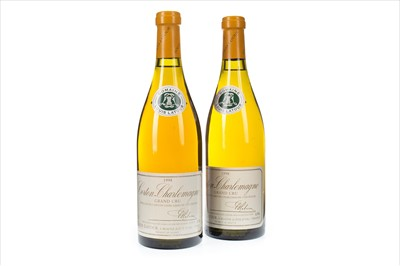 Lot 1010-TWO BOTTLES OF LOUIS LATOUR 1998 CORTON-CHARLEMAGNE GRAND CRU