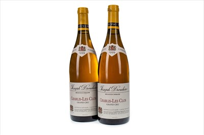 Lot 1023-TWO BOTTLES OF JOSPEH DROUHIN 1999 CHABLIS-LES CLOS GRAND CRU