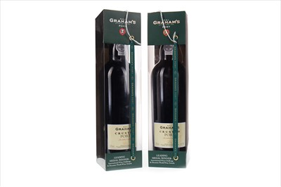 Lot 1017-TWO BOTTLES OF GRAHAM'S CRUSTED BOTTLED 2007