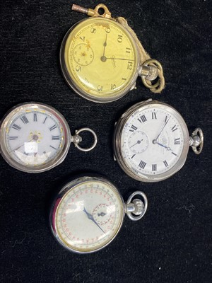 Lot 14-A COLLECTION OF POCKET WATCHES AND A STOPWATCH