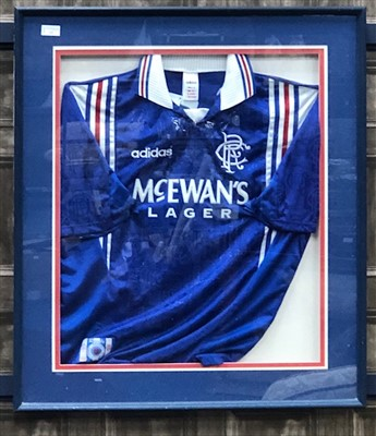 Lot 13-RANGERS F.C. INTEREST - A SIGNED RANGERS JERSEY