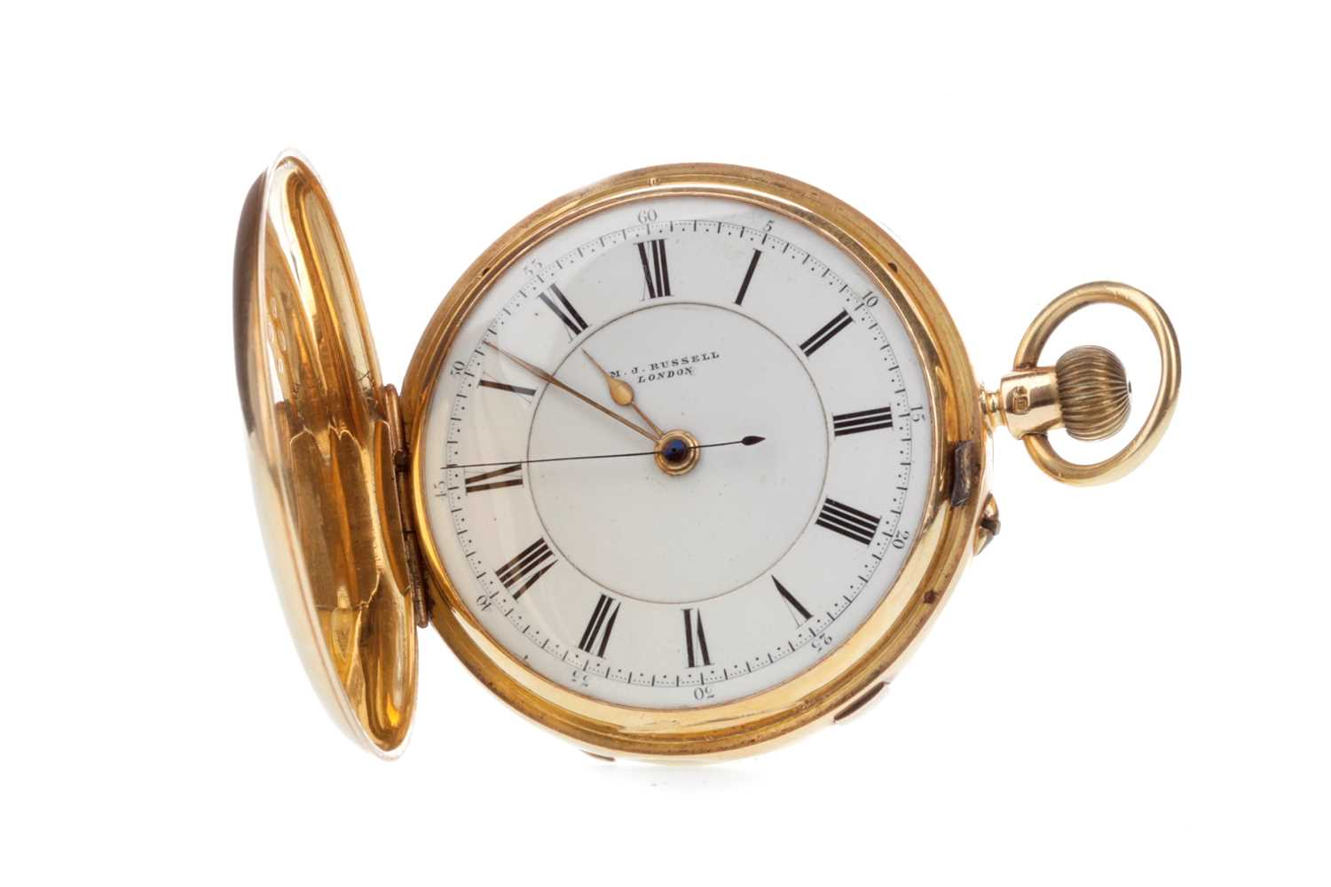 Lot 760-AN EIGHTEEN CARAT GOLD POCKET WATCH