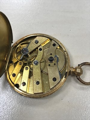 Lot 762-A LADY'S GOLD FOB WATCH