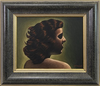 Lot 516-YOUNG GIRL II, AN OIL BY GRAHAM MCKEAN