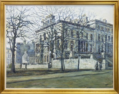 Lot 562-GLASGOW BUILDINGS, AN OIL BY ANDREW HAY