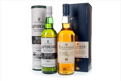 Lot 312-TALISKER AGED 10 YEARS AND LAPHRAOIG SELECT