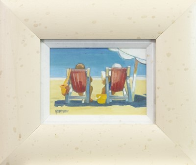 Lot 503-A SEAT IN THE SUN, AN OIL BY LIN PATTULLO