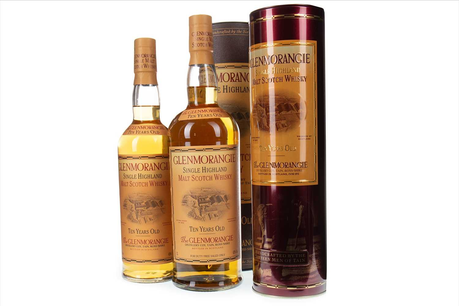 Lot 314-ONE LITRE AND 70CL OF GLENMORANGIE 10 YEARS OLD