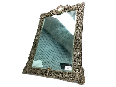 Lot 401-A SILVER FRAMED TABLE MIRROR