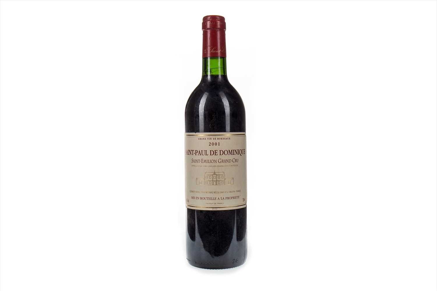 Lot 1025-SAINT-PAUL DE DOMINIQUE 2001 GRAND CRU