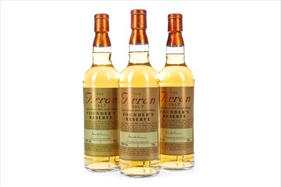 Lot 317-THREE BOTTLES OF ARRAN FOUNDER'S RESERVE
