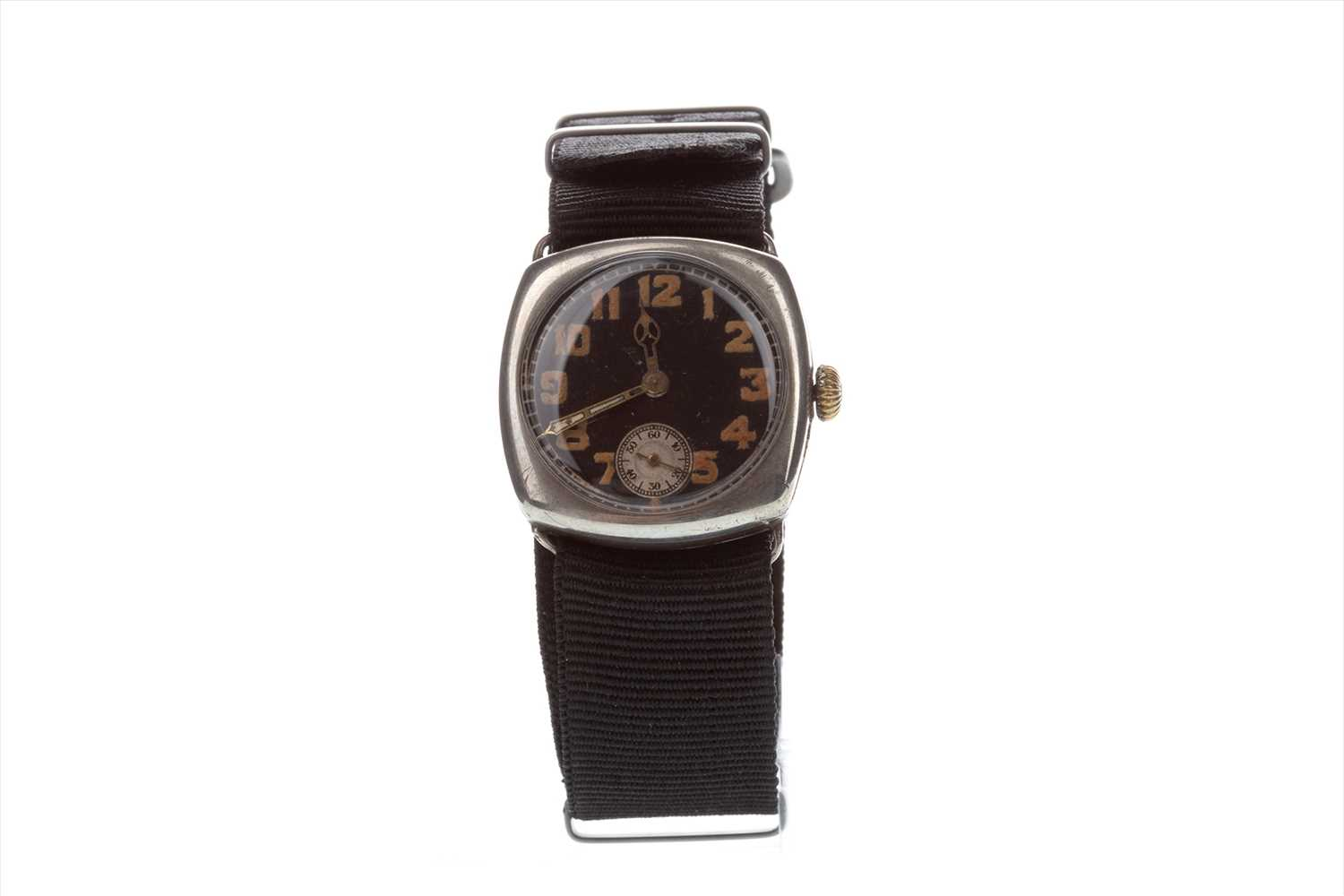 Lot 775-A WWI SILVER MANUAL WIND TRENCH WATCH