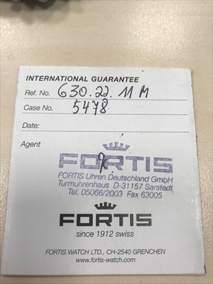 Lot 718-A GENTLEMAN'S FORTIS STAINLESS STEEL WATCH