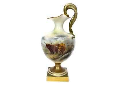 Lot 1001-A ROYAL WORCESTER EWER BY HARRY STINTON