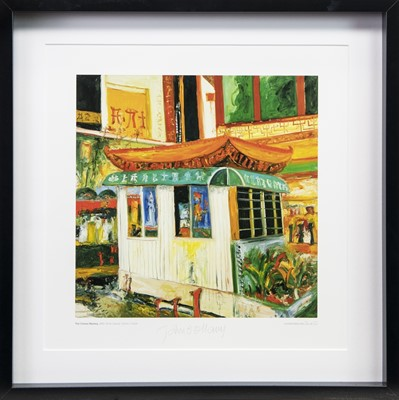 Lot 6-THE CHINESE MYSTERY, A PRINT SIGNED BY JOHN BELLANY