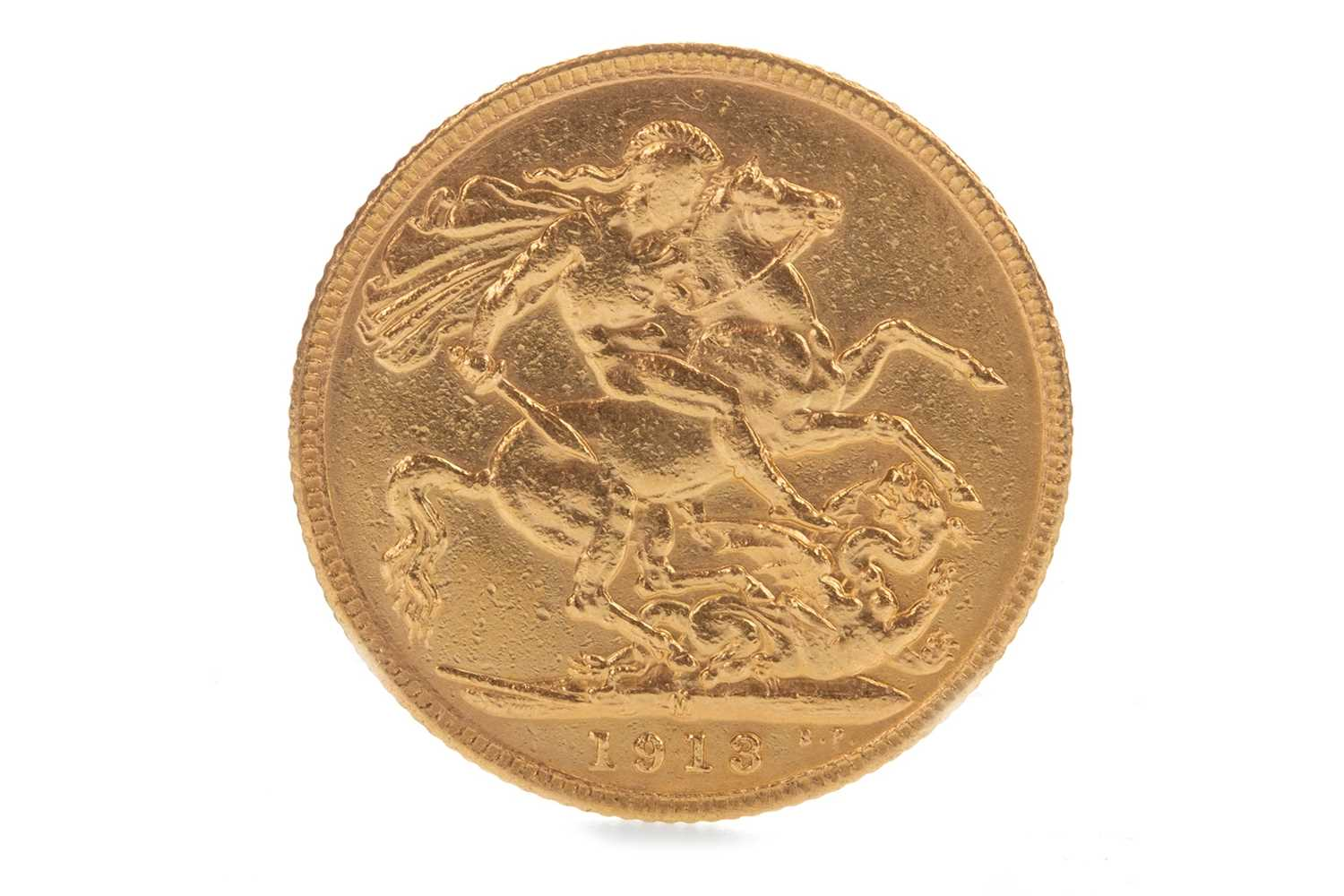 Lot 1-A GOLD SOVEREIGN, 1913