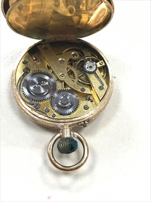 Lot 776-A LADY'S 19TH CENTURY GOLD FOB WATCH