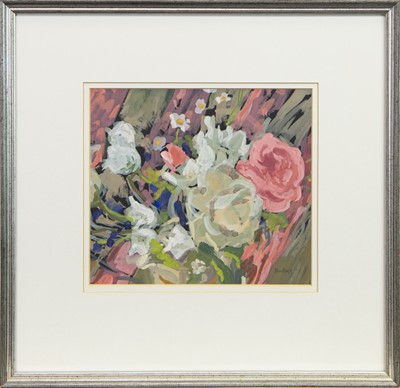 Lot 508-ROSES IN SUSSEX, A GOUACHE BY SHEENA BEGG