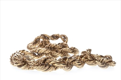 Lot 308-A GOLD ROPETWIST CHAIN
