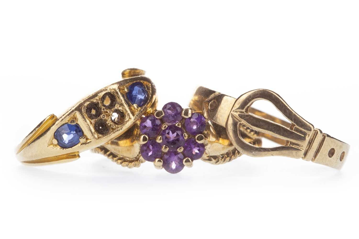 Lot 302-THREE GOLD RINGS