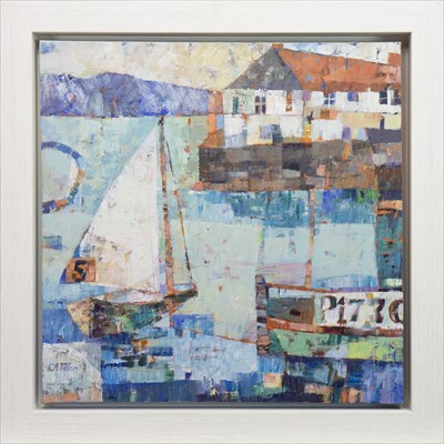 Lot 514-HOUSE ON THE QUAY, AN ACRYLIC BY SALLY ANNE FITTER