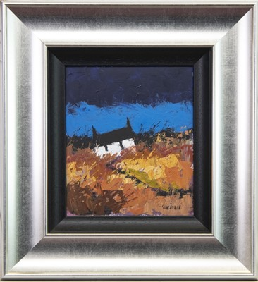 Lot 553-AUTUMNAL CROFT, AN OIL BY GEORGE SOMERVILLE
