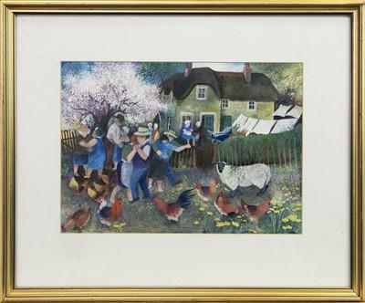 Lot 525-THE CHRISTENING, A GOUACHE BY LISA GRAA JENSEN